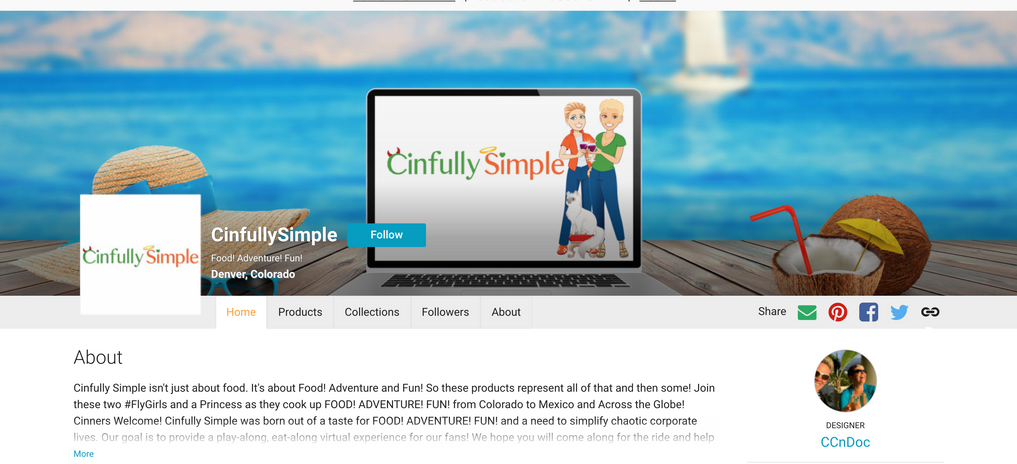 Cinfully Simple Zazzle Storefront