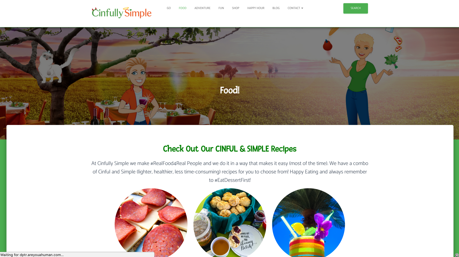 Cinfully Simple Website 4