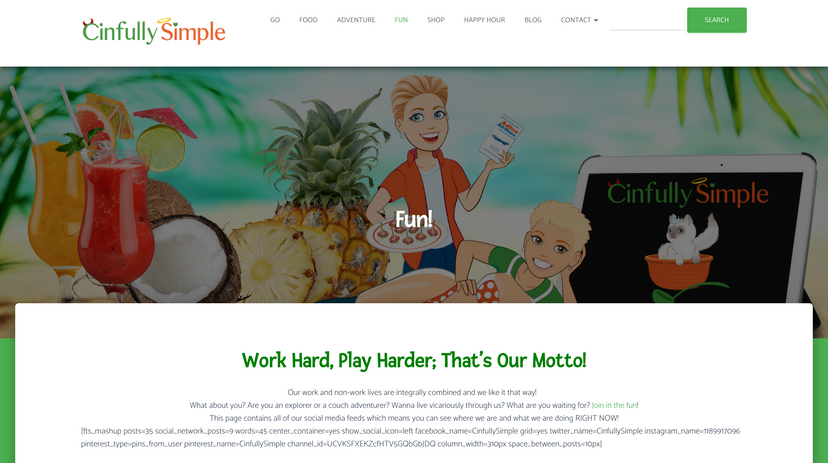 Cinfully Simple Website 2