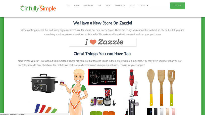 Cinfully Simple Website 3