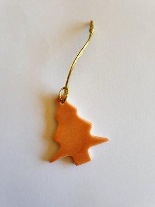 Peach Christmas Ornaments