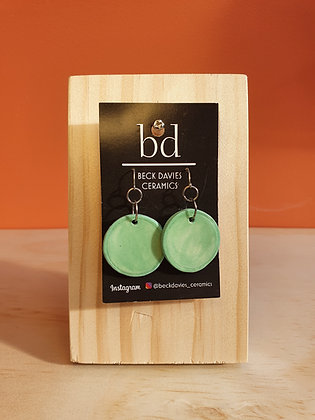Polka Dot Earrings- Green
