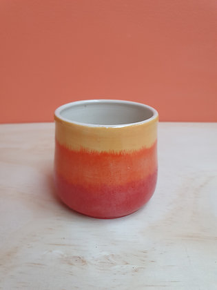 Warm Flame Short Stripe Cup