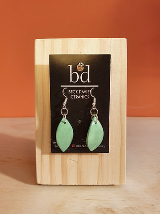 Leaf Earrings- Green