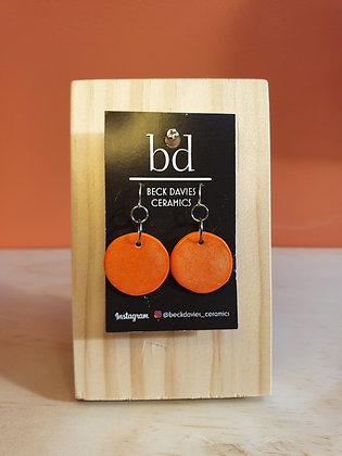 Circle Earrings- Orange