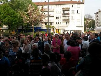 Inauguration de la supérette dans le quartier du Morillon
