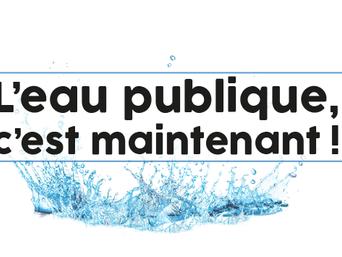 Vœu du conseil municipal relatif à la réaffirmation d'une gestion publique de l'eau et à la création