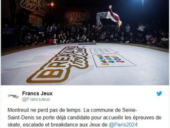 [JO 2024] Montreuil veut accueillir les épreuves de breakdance, escalade et skateboard
