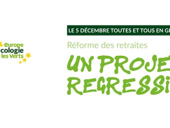Appel à rejoindre la grève du 5 décembre 2019 contre le projet de réforme des retraites du gouvernem