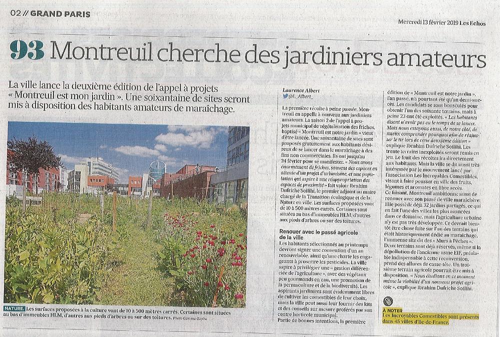 montreuil est notre jardin saison 2 les échos jardiniers amateurs