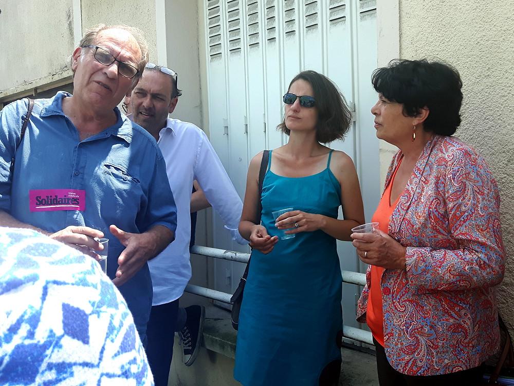 Djamel Leghmizi conseiller délégué à l'énergie avec Michèle Rivasi, eurodéputée EELV