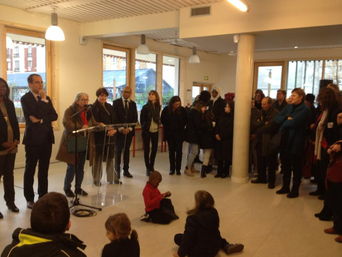 L'inauguration du Groupe scolaire Hessel-Zeffirotes