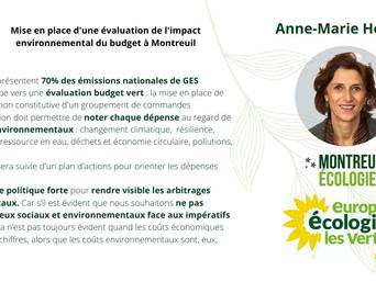 Rendre visibles les coûts environnementaux dans le budget Montreuillois