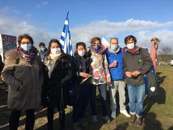 Les élu·es présent·es à Gonesse pour défendre les terres agricoles