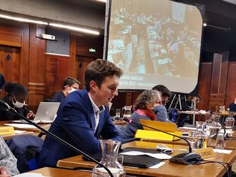 Wandrille Jumeaux intervient sur la délibération concernant la santé au Conseil Municipal du 30 sept