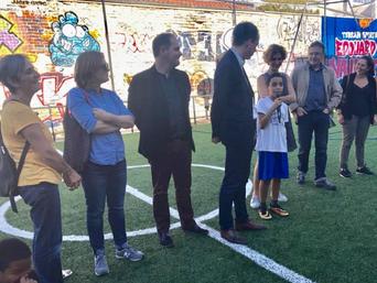 Deux terrains de sports rénovés grâce au budget participatif