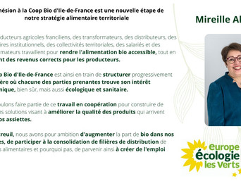 Un pas de plus vers une alimentation bio et locale pour tous·tes : adhésion Coop Bio d'Ile-de-France
