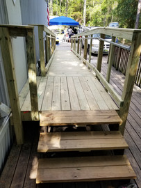 Wheelchair ramp with stairs