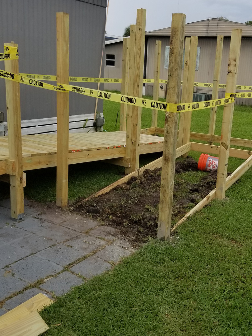 wheelchair ramp underconstruction