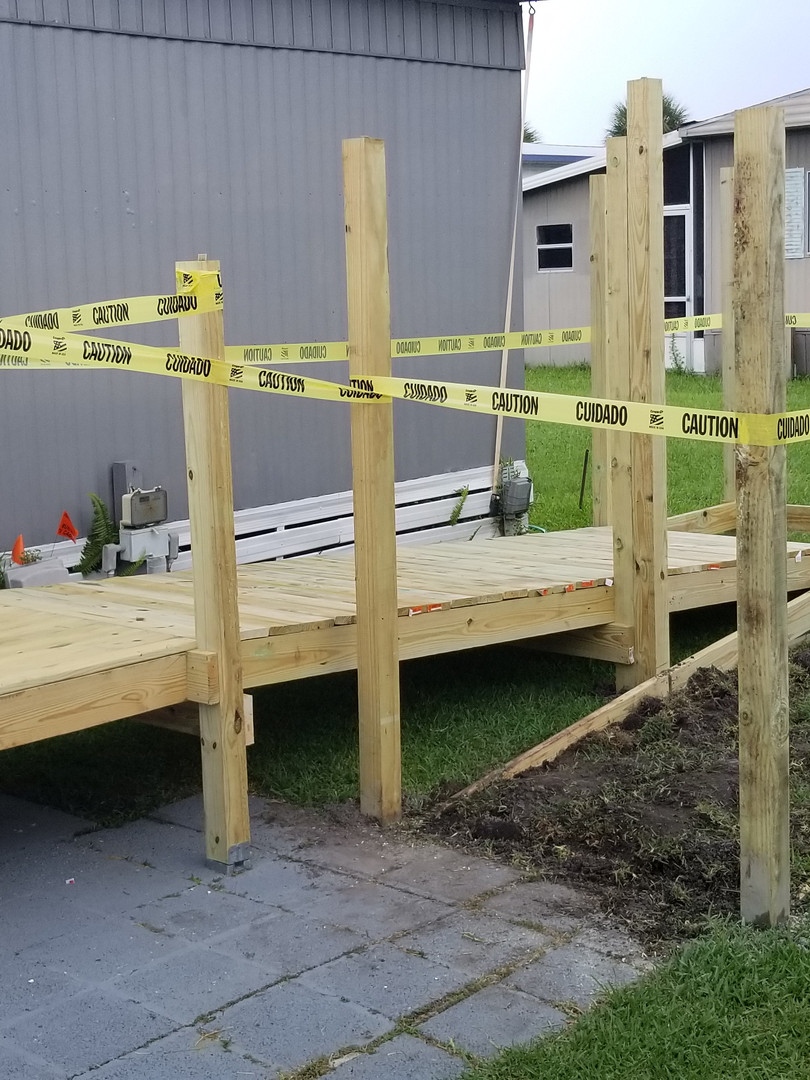 Wheelchair ramp progress