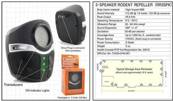 triple speaker repeller