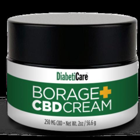 Diabeticare™ Borage+CBD Cream 2 FL OZ/60 ML