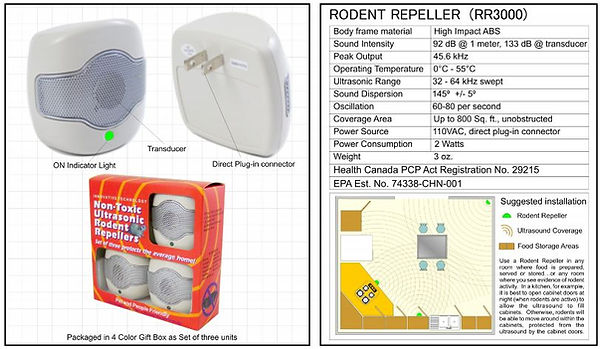 rodent repeller spec sheet