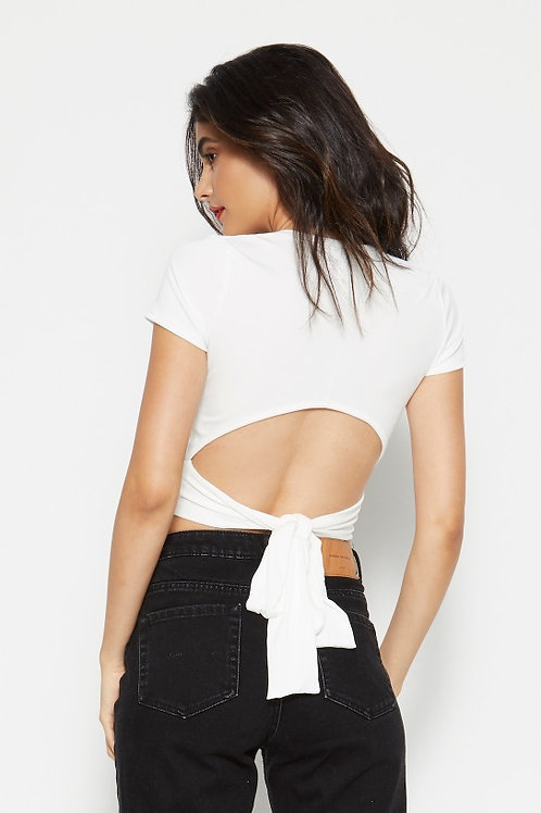 Indra Crop Top - WHITE