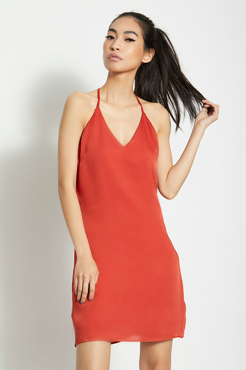 Misa Slip Dress - BURNT ORANGE