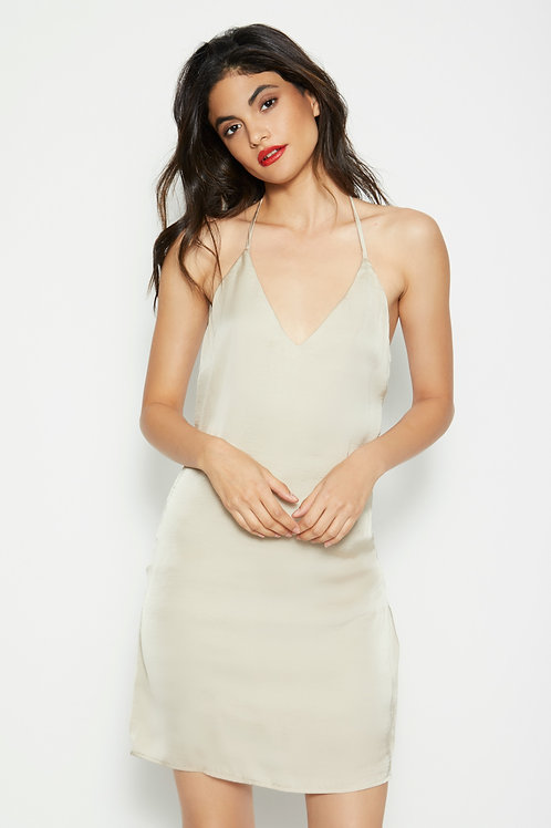 Misa Slip Dress - CHAMPAGNE