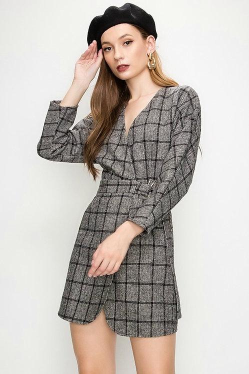 Alouette Plaid Mini Dress