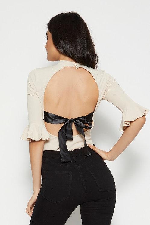 Suri Open Back Bodysuit