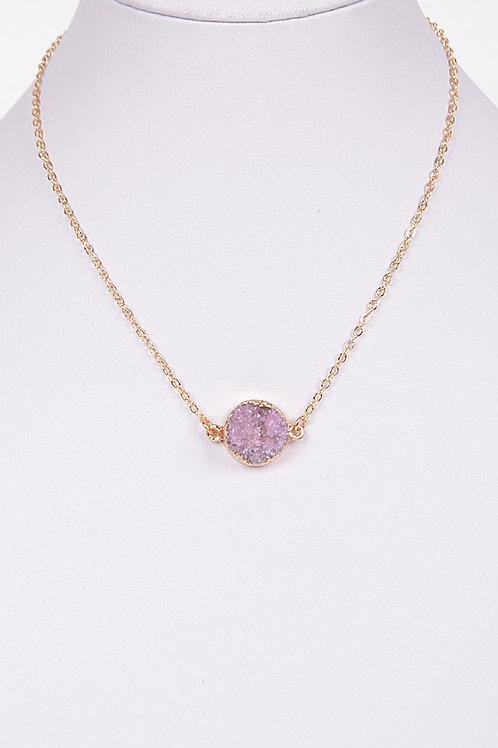 Aphaea Stone Necklace - LAVENDER
