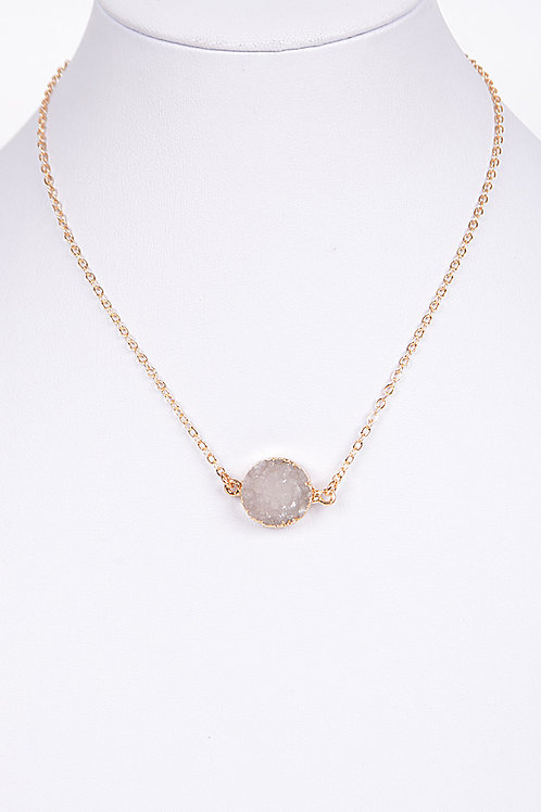 Aphaea Stone Necklace - BEIGE