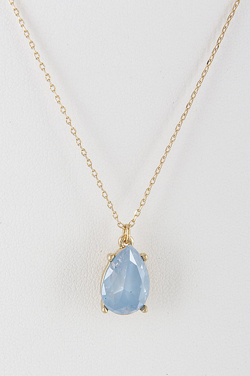 Seraphina Cubic Zirconia Necklace - BLUE