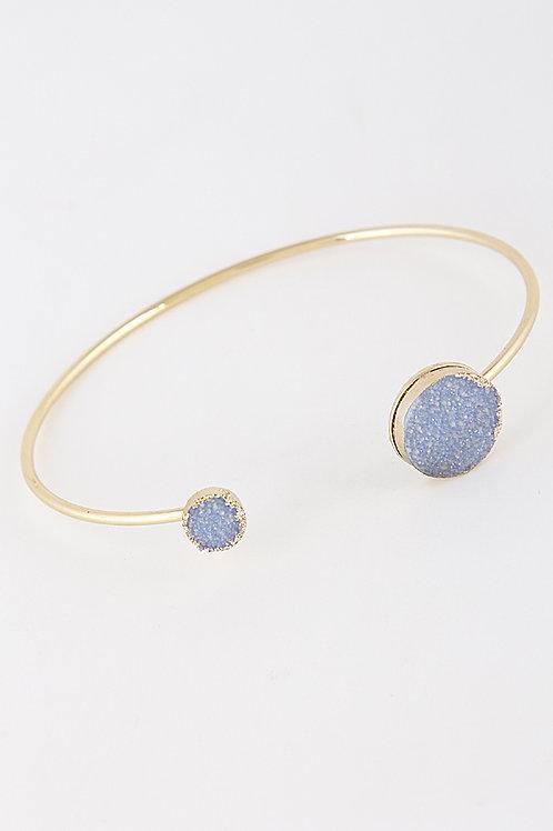 Yasmina Druzy Stone Bracelet - BLUE