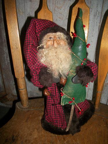 Red Check Santa
