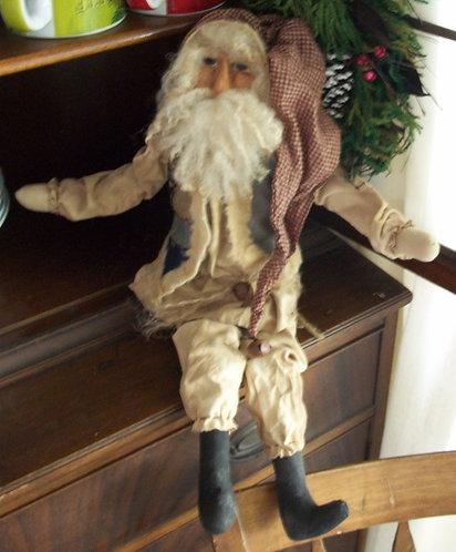 Crazy Quilt Vest Santa