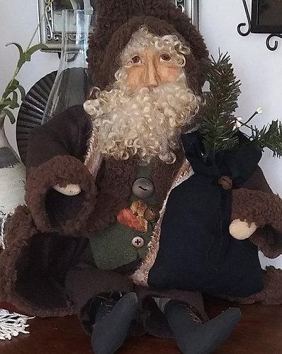 Brown Santa with his Bag
