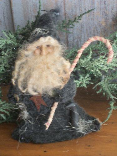 Santa with Crow & Cane