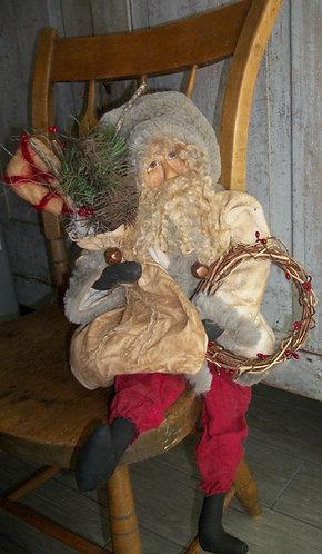 Wreath Santa
