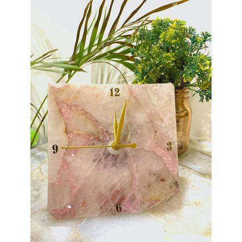 Rose Quartz Table Clock