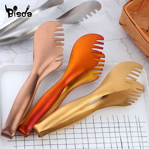1Pc Stainless Steel Tongs