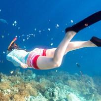 We love snorkeling