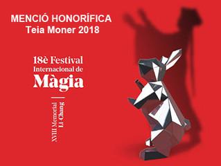 PREMI HONORÍFIC DE MÀGIA  a la nostra directora artística TEIA MONER
