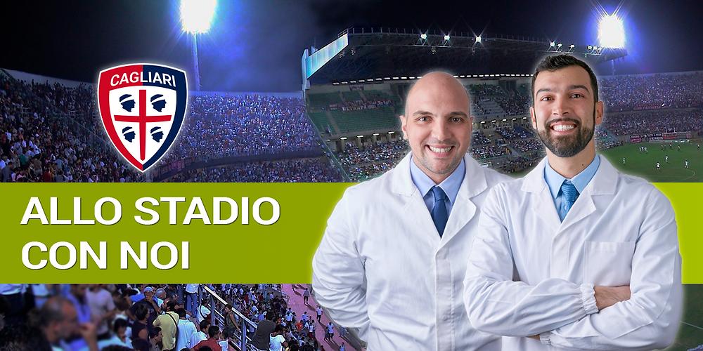 Allo stadio con Arena e Calvino dentisti - Cagliari Bologna