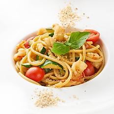 Спагети с лангустинами и цукини