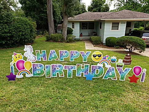Happy Birthday - Rainbow Glitter + Unico
