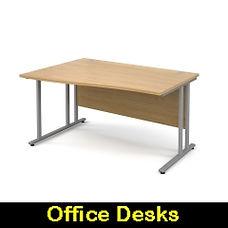 office desk cantilever leg wave straight ergonomic corner