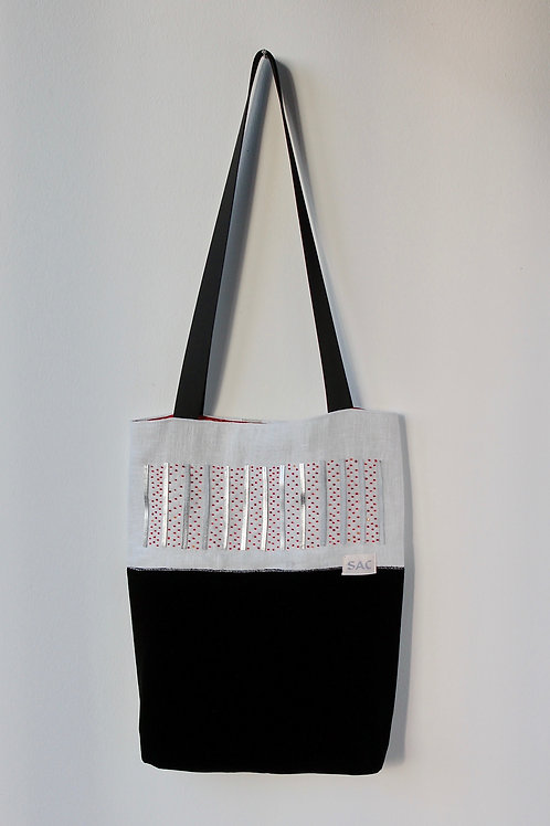 Silver with Red Sparkles